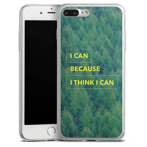 Apple iPhone 8 Plus Slim Case Silikon Hülle Schutzhülle Motivation Fitness Statement Silikon Slim Case transparent