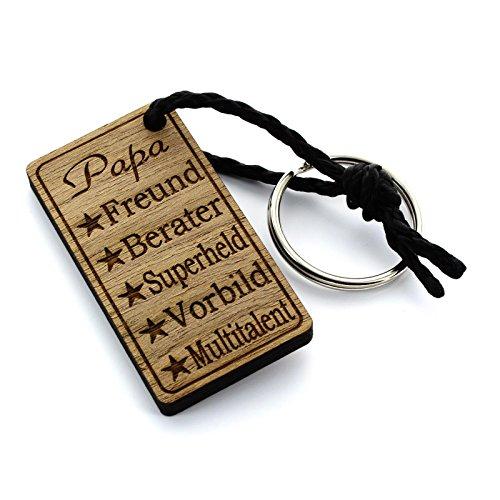 Preisvergleich Produktbild Lieblingsmensch Schlüsselanhänger aus Holz Modell: Papa