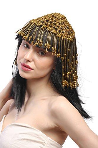 WIG ME UP - 60264-P103 Perücke Dame Karneval Cleopatra Kurtisane Harem 20er Jahre Glamour 1001 Nacht Schwarz