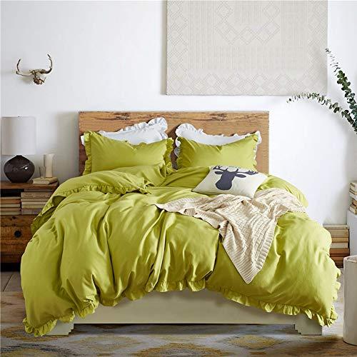 JWANS Romantische Rosa Bettwäsche Set 2/3 Stück Elegante Rüschen Rand Bettbezug Bettwäsche Twin Queen King European Style Tagesdecke (Bettwäsche Twin Mädchen Für Tween)