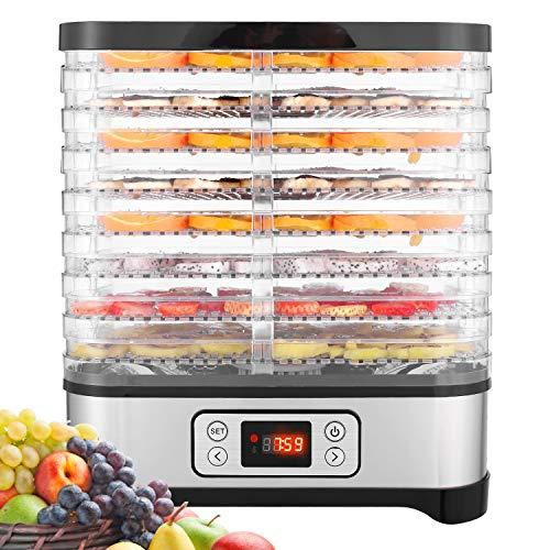 Hopekings Essiccatore frutta e verdura,Display LCD,Timer di 72 ore,8 pallet,Disidratatore per Alimenti,Essiccatore Alimentare,Temperatura regolabile(35 ° C-70 ° C), 400 W