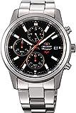 Orient Reloj Cronógrafo para Hombre de Cuarzo con Correa en Acero Inoxidable FKU00002B0