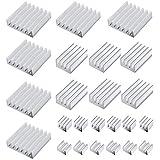 Heqishun Radiatore in Alluminio a 24 Pezzi per Dissipatore di Calore per Raspberry Pi 4 Modello B (4 Dimensioni)