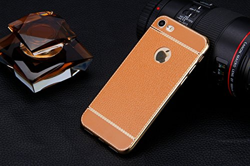 Coque Etui pour iPhone 7/iPhone 8, iPhone 8 Coque Portefeuille Soft Etui, iPhone 8 Coque de Protection Etui Housse,iPhone 7 Silicone Plating Case Wallet Protective Cover Protector, Ukayfe Etui de Prot Brun