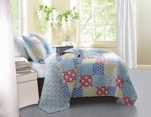 Greenland Home 3-teilig Kendall Quilt Set, Full/Queen, Multi -