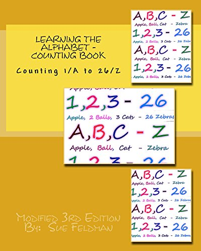 Learning the Alphabet - Counting Book: Counting 1/A to 26/Z (English Edition)