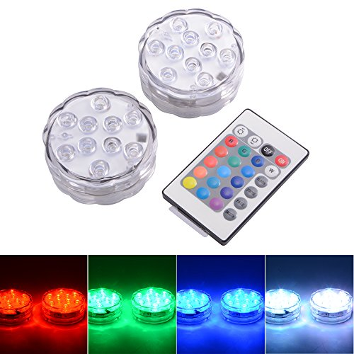 XCSOURCE® 10 LED RGB Sumergible La luz LED Multi