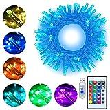 RGB LED Lichterkette 10M 100 LEDs Ollny LED USB Lichterkette 16 Farben 4 Modi mit Fernbedienung & Timer für Weihnachten Partydekoration Geburstag Hochzeit Wohnzimmer Kinderzimmer