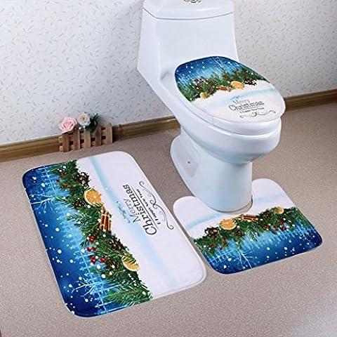 Hot/yanhoo Home Weihnachten WC Fuß Pad Sitzbezug Heizkörper Gap Badezimmer