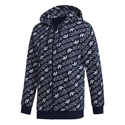 adidas Herren Monogram Full Zip Jacke, Collegiate Navy, S Zip-jacke Navy