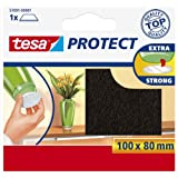 Tesa 57891-00001-01 - Fieltro anti rasguño cuadrado (100 mm x 80 mm) color marrón