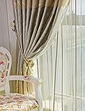 Vorhänge ZCJB Dicker Schallschutz Schattierung Tuch Schlafzimmer Wohnzimmer Balkon Fertig Produkt Scheibe (Farbe : B, größe : W300*H270CM)