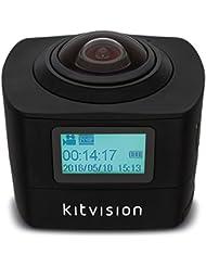 Kitvision Immerse 360 Caméra d'Action avec Wi-Fi Intégré - Noir