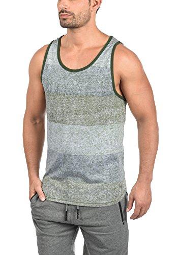 !Solid Charan Herren Tank-Top Rundhalsausschnitt aus Hochwertiger Baumwollmischung, Größe:S, Farbe:Duffel Bag Green (3590)
