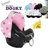 DOOKY HOODY ** Style UV+ ** Universal Verdeck für Maxi Cosi Cabrio / CabrioFix / Pebble / Citi, Römer und andere Babyschalen Gruppe 0+ als Sonnenschutz / Sonnenverdeck