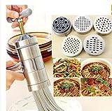 SL&MTJ Edelstahl-Manuelle Nudel-Maker,Pasta Maschine Presse Obst Entsafter Einschließlich 5...
