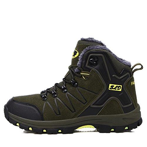 Gomnear Herren Wanderstiefel Warm Trekking Schuhe Wir sind Hoher Aufstieg Non slip Atmungsaktiv Draussen Wasserdicht Klettern Turnschuhe Dark Grey-41 PKMGX