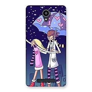 Enticing Anime Couple Multicolor Back Case Cover for Redmi Note 2
