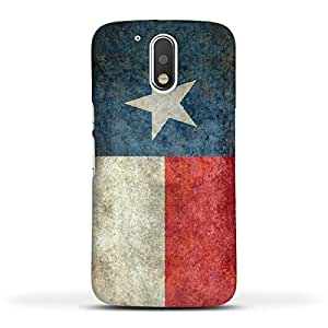 FUNKYLICIOUS Moto G4 Back Cover Texas State Flag Retro vintage Design (Multicolour)