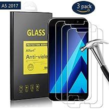 3-Unidades Protector de Pantalla para Samsung Galaxy A5 2017, 5.2 pulgadas, Alfort Cristal Templado Premium Grosor 0,33mm Alta Resistencia a Golpes 9H Tono Transparente Alta Definicion Compatibles con 3D Touch No Generan Burbujas