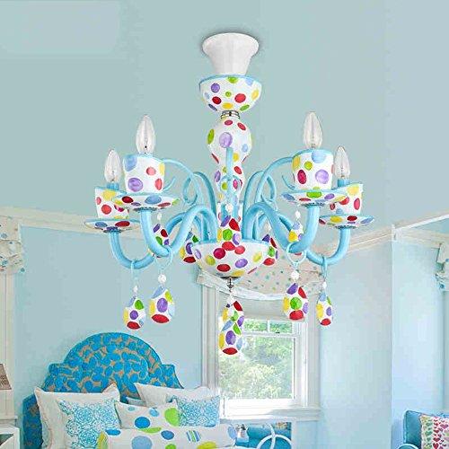 Bunte Kinderzimmer LED Augenschutz Kronleuchter Kreative Persönlichkeit Kunst Mädchen Schlafzimmer Lampe (weiß, warmes Licht) ( farbe : Warm light-LED5W )