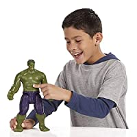 Marvel Avengers Inspired Action Figure Hulk Captain America Ironman Thanos Spiderman Thor Panther Collectible Model Toy at Reasonable Prices with Light, Sound & Branded Box 30 CM (A-Hulk)