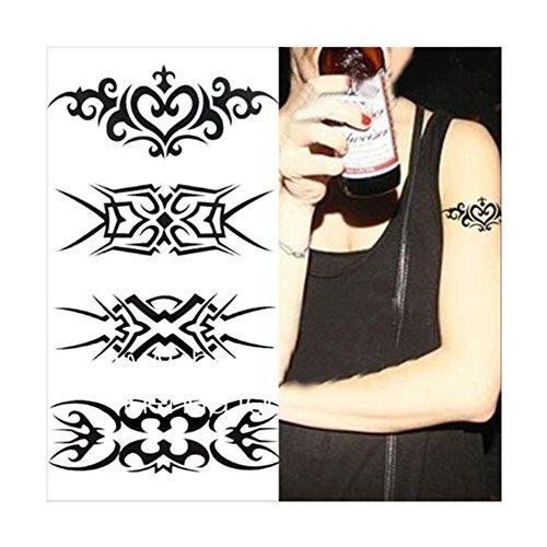 1 Pc 3D Tatouage Sticker Hydroresistant Temporaire Totem du Bras Corps Décoration Art