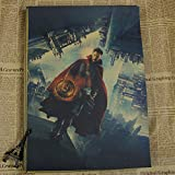 qwerz BD Papier Kraft Rétro Affiche Avengers Film Bizarre Médecin Merveilleux Devis Pas Cher Sticker Mural 42 * 30cm Y