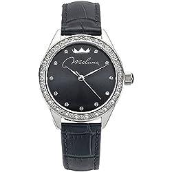 Orologio Miluna Momenti Donna Cristalli Pelle Nero ORL1000_N30