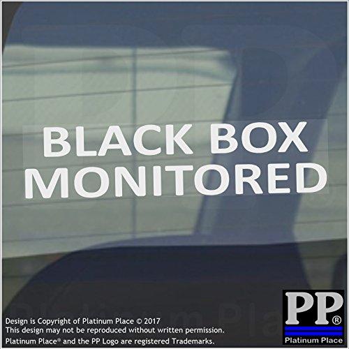 1-x-black-box-monitored-50x200mm-windowcarvanstickersigntrucklearnerbeginnernewlessonpassplusinsuran