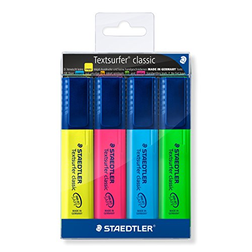 staedtler-textsurfer-classic-364-highlighter-assorted-colours-pack-of-4