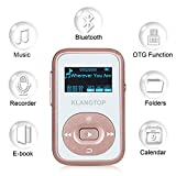 from KLANGTOP MP3 Player Sport Clip KLANGTOP Bluetooth Mini Music Players 8GB with FM Radio Voice Record 30 Hours Playback, Rose Gold Model K183-Pink-DE