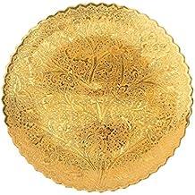 DEVKIKALA MANDIR CORPORATION Brass Decorative Wall Plate Handicraft kangura with 24 Carat Gold Plating (20 cm x 0.3 cm x 1.5 cm,DKMCM10)
