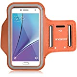 MoKo Sports Armband for iPhone 6s Plus / iPhone 6 Plus, Samsung Galaxy Note 5 / S6 edge+, Droid Turbo and LG G4 / G3, Card Slot, Sweat-proof, ORANGE (Size S, Compatible with Cellphones up to 5.7 Inch)