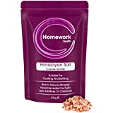 Homework Health Himalayan Pink Salt Coarse Grade Zero Additives Suitable For Cooking And Detoxification Comes In Re Sealable Stand Up Pouch 500g Packaging May Vary