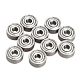 REFURBISHHOUSE 10 Pieces Roulements A Billes Radiales Miniatures 623ZZ 3x10x4mm pour RC Pratique automobile
