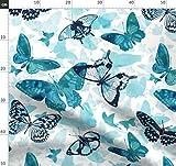 Tiere, Schmetterling, Wasserfarben, Türkis Stoffe -