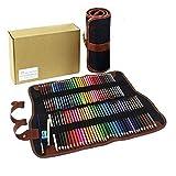 Soluble en agua de color lápiz Set Lienzo Wrap, herramientas de arte, 72Count, Gran para dibujo o color gris