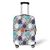 Travel Luggage Cover Suitcase Protector,Clock Decor,Vintage Clock Mechanism Roman...