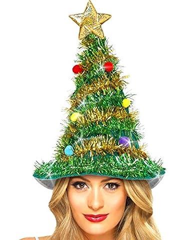 German Trendseller® - Weihnachtsbaum Mütze NEU ┃ 43 cm ┃ Tannenbaum Hut ┃ Weihnachtsmarkt┃ Weihnachten
