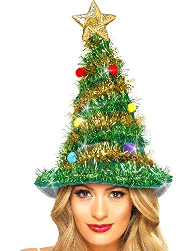 Preisvergleich Produktbild German Trendseller® - Weihnachtsbaum Mütze NEU  43 cm  Tannenbaum Hut  Weihnachtsmarkt Weihnachten