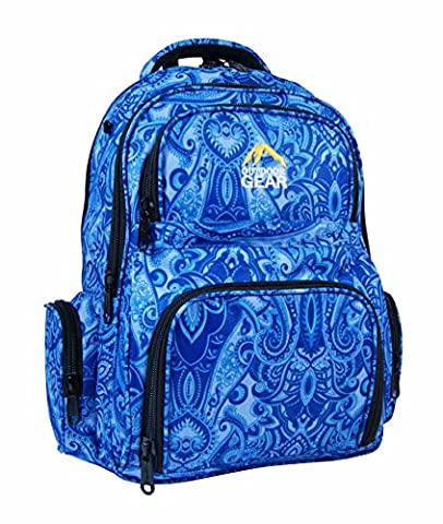 Outdoor Gear Girls Women Paisley Print Backpack Rucksack School College Travel Bag - Waterproof Material - With Matching Pencil Case 30-35 Liters