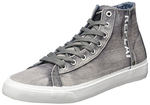 Replay Newton, Chaussons montants homme Gris
