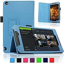 Infiland NVIDIA SHIELD Tablet K1 / NVIDIA SHIELD Funda Case-Folio PU Cuero Cascara Delgada con Soporte para 2015 NVIDIA SHIELD Tablet K1 (Newest Version) / 2014 NVIDIA Shield 2 Tablet (8 pulgadas)(con Auto Reposo / Activación Función)