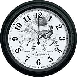 Reflective Art The Honeymooners Weather Station Clock 16-Inch