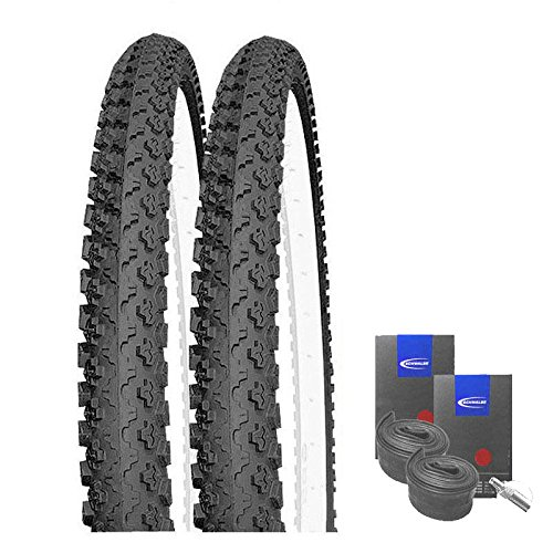 SET: 2 x Kenda K810 MTB Fahrrad Reifen 50-559 / 26x1.90 + SCHWALBE SCHLÄUCHE Blitzventil