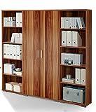 Regalwand 'OFFICE LINE' Regal Regal-Set Aktenschrank Aktenregal Büro Einrichtung / Walnuss