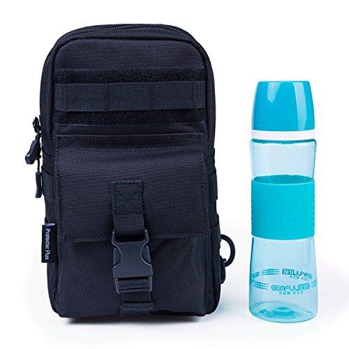 Herren Sport Brusttasche Schultertasche Taktischer Reisetasche Freizeittasche Sporttasche Backpack für Reise Camping Hiking Schwarz