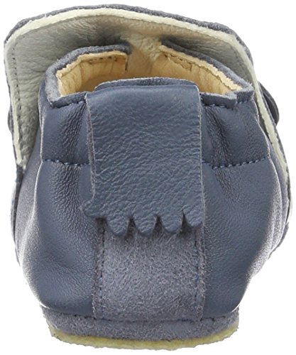 Easy Peasy Unisex Baby Blublu Mousse Krabbel-& Hausschuhe Blau (denim/blanc)