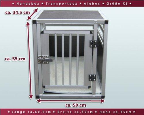hundeinfo24.de Hundebox / Alubox / Hundetransportbox / Autobox + Einlegematte Inbus-Verschraubung Größe XS